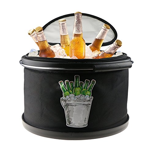 Collapsible Ice Bucket Drinks Lunch Cooler, LC-dolida Portable
