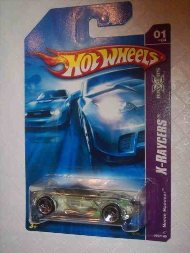 Nerves Series (X-Raycers Series #1 Nerve Hammer 3-Spoke Wheels #2007-69 Collectible Collector Car Mattel Hot Wheels)
