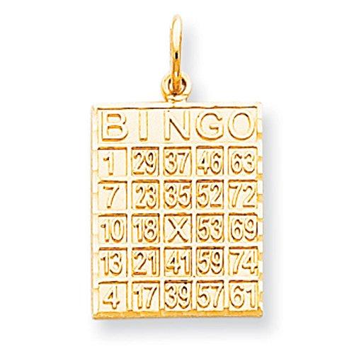 10 k cartes de Bingo massif de qualité supérieure-Or Or 9 Carats JewelryWeb que
