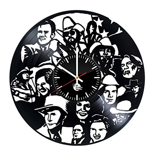 Country Western Singer Vinyl Record Wall Clock - Get unique living room wall art décor - Gift ideas for father, mother, friend – Unique music art design - Leave us a feedback and win your custom clock - World Book Day Costume Ideas 2016