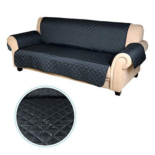 Wasserdicht Sofabezug Doppelseitig 3 sitzer Sofa Matte für Hunde/ Katzen 167cm*165cm (dunkel blau / hell blau)