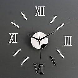 Adarl 3D Mirror DIY Decor Decal Stickers Home Wall Acrylic Clocks Decor
