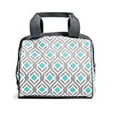 Fit & Fresh 902FFST525 Charlotte Insulated Lunch Bag for Women, 9' x 6' x 8', Gray