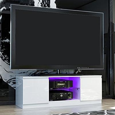 Mobiliario para la sala de estar de estilo moderno de Panana, mueble para televisor, armario de almacenamiento, unidad extragrande., madera, Blanco, 120*39*40cm: Amazon.es: Hogar