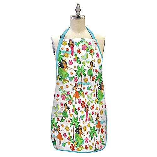 Hawaiian Style 100% Cotton Twill Fabric Apron Island Hula Honeys (Island Honeys Hula)