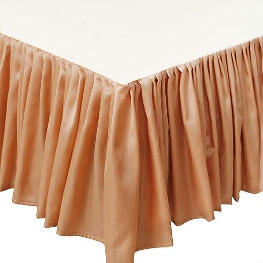 Ajustable Ruffled Faldas de la Cama, Falda de Cama Elástica ...