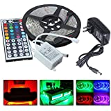 Color Changing Strips   RGB 5050 LEDs Color Changing Kit with 44 Key Remote Waterproof Flexible Tape LED Strip Lights for Bedroom (from US, Colorful)
