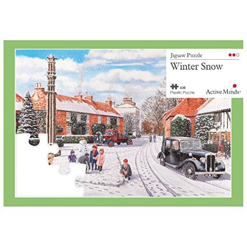 Active Minds 35 Piece Winter Snow Jigsaw Puzzle | Specialist Alzheimers / Dementia Activities & Games
