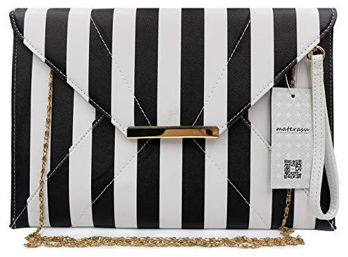 - clutch purses for women wedding,Materasu Elegant Vintage Wedding Clutch Purse with Zip Pocket Insert Black White