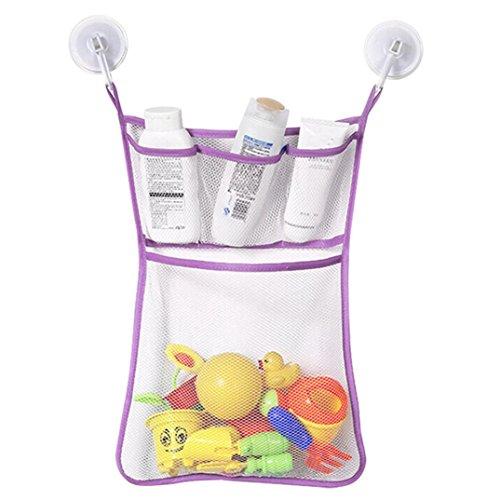 - Cinhent Bag 1PC Fashion New Baby Toddlers Toy Mesh Storage Bag Bath Bathtub Doll Organize,Clean Up the Universal Hanging Bag (Purple)