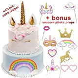 Best Party Unicorn Cake Toppers Horn Topper Cake Birthday Unicorn Party Cake Toppers for Girls