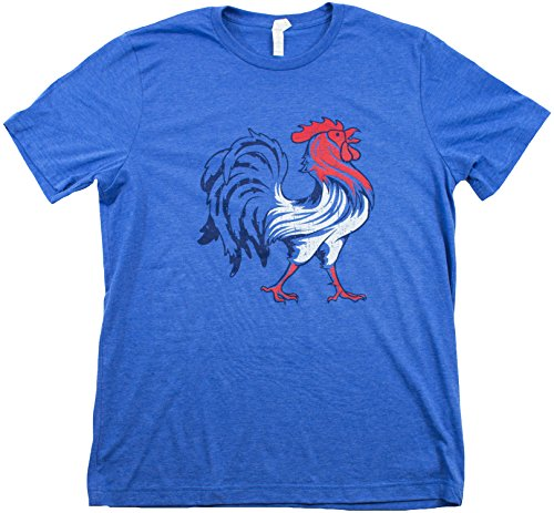 French Flag & Gallic Rooster | Vintage Style France Coq Gaulois Unisex T-shirt