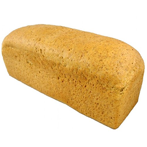 Low Carb Hearty White Bread (25 Slice Loaf) - Fresh Baked - LC Foods - All Natural - No Sugar - High Protein - Diabetic Friendly - Keto Bread - Low Carb Bread