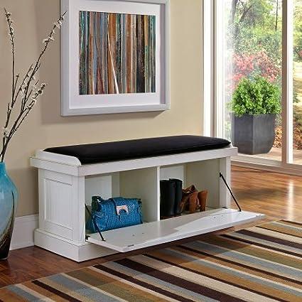 Outstanding Amazon Com Two Cabinet Entryway Bench Storage Bins Beatyapartments Chair Design Images Beatyapartmentscom