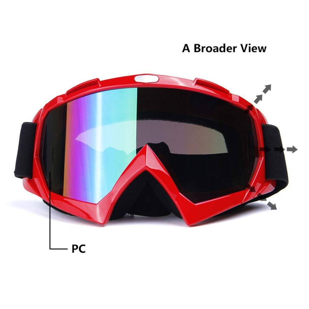 LIW Gafas de Motocross para Motocicletas Gafas de Sol Deportivas a Prueba de Viento Dirt Windproof Ciclismo Scooter Ski Anti UV Niebla Gafas Protectoras,Black