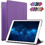 New iPad 9.7-inch 2018 2017 Case, ROARTZ Purple Slim-Fit Smart Rubber Folio Case Hard Cover Light-Weight Wake Sleep for Apple iPad 5th 6th Generation Retina Model A1893 A1954 A1822 A1823