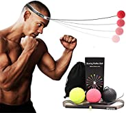 Boxing Reflex Ball Reaction Ball on String with Headband Suspension for Training Speed Improve Punch Focus Exe