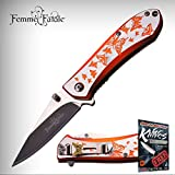 FEMME FATALE Spring Assisted Open BUTTERFLY Ladies Purse Folding Pocket Elite Knife + free eBook by ProTactical'US