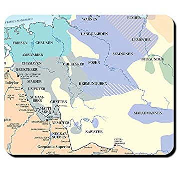 Germanen Karte Germanische Stamme 100 Nach Christus Aufteilung