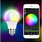 YAN E27 Bluetooth Smart LED Screw Light Bulb 4.5W RGBW LED Lamp Color Changing Dimmable Lights Blub for IOS Android Smartphone