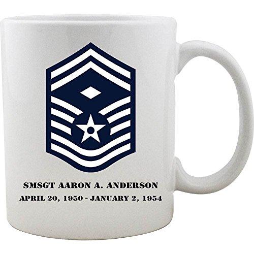 Customizable Air Force Senior Master Sergeant 1st SGT Diamond Rank Coffee Mug