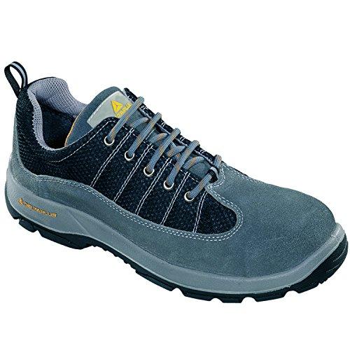 Delta Plus Chaussures–Chaussures croûte de cuir nylon POLYURÉTHANE GRIS/NOIR 2d–s1P taille 43