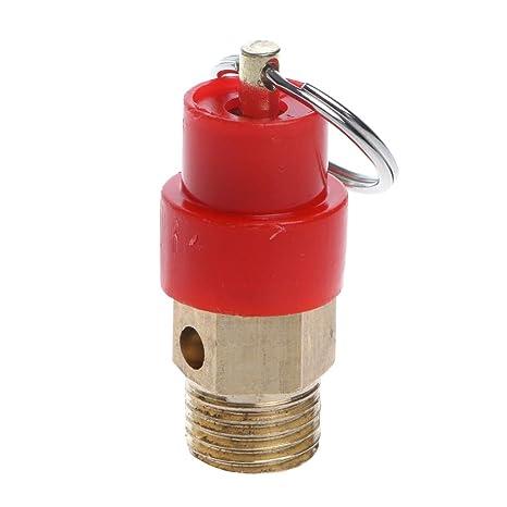 Válvula de liberación de aire BSP de 1/4 pulgadas, regulador de alivio de
