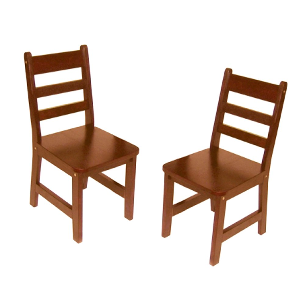 amazoncom lipper 5234p childu0027s chairs set of 2 pecan kitchen u0026 dining