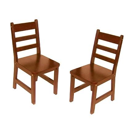 Fine Lipper International 523 4C Childs Chairs Set Of 2 Cherry Short Links Chair Design For Home Short Linksinfo