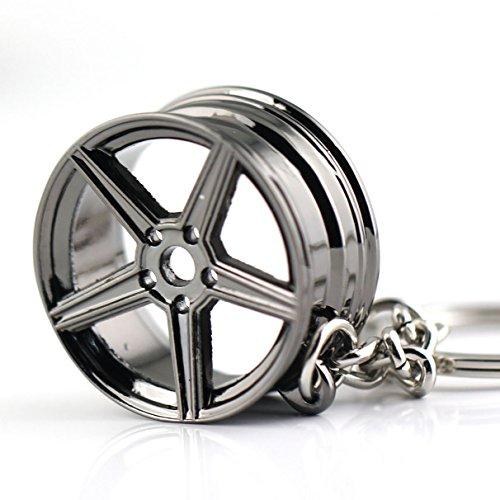 Maycom Creative Hot Auto Part Model for MB Wheel Rim Tyre Keychain Keyring Key Chain Ring Keyfob (MB (Audi Wheels Rims)
