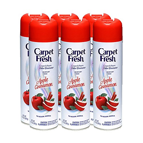 Carpet Fresh No Vacuum - Carpet Fresh 10.5 oz No-Vacuum Apple Cinnamon Fragrance (Pack of 6)