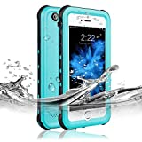 Redpepper Waterproof Case for iPhone 6 Plus/6s Plus, IP68 Certified Drop Resistant Full Sealed Underwater Protective Cover, Shockproof, Snowproof and Dirtproof for Outdoor Sports (Grass Blue)