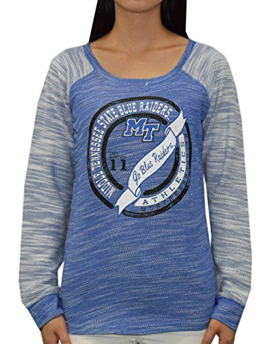 NCAA Womens MIDDLE TENNESSEE BLUE RAIDERS Athletic Thermal Sweatshirt S Blue