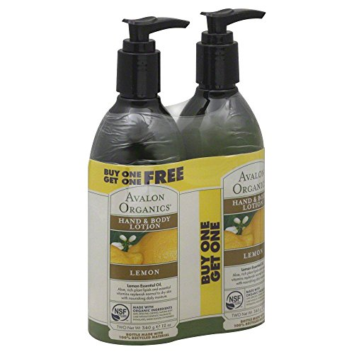 Hand and Body Lotion Buy One Get 1 Lemon 12 Ounces by Avalon Organics