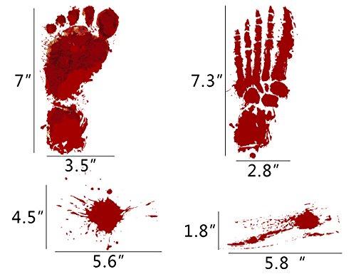 jollylife Bloody Footprints Floor Cling