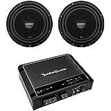 2) Rockford Fosgate R2SD4-12 12 Shallow Car Subwoofers+R500X1D Mono Amplifier