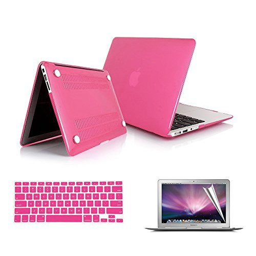 """Macbook Air Case Cover, RavTech(TM) [3 in 1 Bundle ]Rubberized Frosted Soft Touch Hard Shell Case Cover for Macbook Air 13.3"""" (Models: A1369, A1466),with Silicon Keyboard Protector and Clear LCD Screen Protector,RobinEggBlue"""