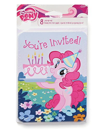 American Greetings My Little Pony Invite and Thank-You Combo Pack (8-Count)