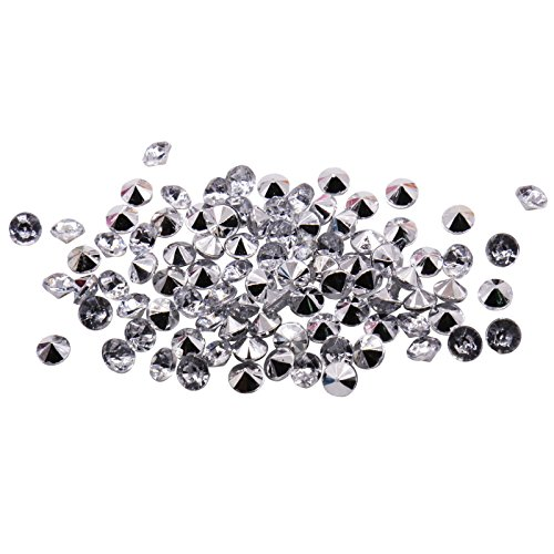 BIT.FLY 4.2mm 10000pcs Acrylic Crystal Diamond Vase Fillers for Table Scatter Wedding Event Party Decoration, Arts & Crafts DIY Ice Rock Treasure Gems - Silver