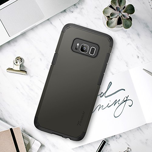 Trianium Galaxy S8 Case, [Duranium Series] Samsung Galaxy S8 Holster Belt Clip Heavy Duty Premium Protective Kickstand Extreme Protection Shock Absorption Cover 2017 - Gunmetal by Trianium (Image #6)