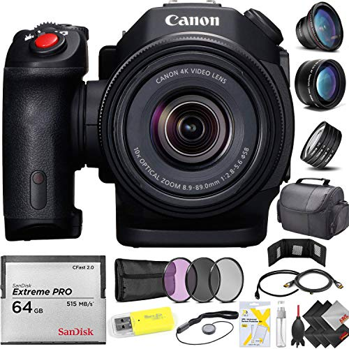 Canon XC15 4K Professional Camcorder + 64GB Cfast Memory Card Professional Kit