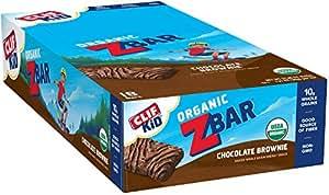 CLIF KID ZBAR - Organic Energy Bar - Chocolate Brownie - Baked Whole Grain Energy Snack Bar 1.27 Ounce Snack Bar, 18 Count