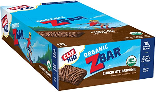 CLIF KID ZBAR - Organic Energy Bar - Chocolate Brownie - Baked Whole Grain Energy Snack Bar (1.27 Ounce Snack Bar, 18 (Chocolate Brownie)