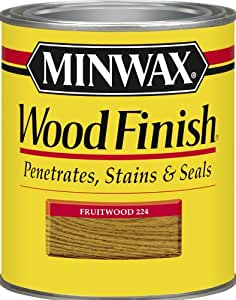 Minwax 224104444  Wood Finish Penetrating Interior Wood Stain, 1/2 pint, Fruitwood