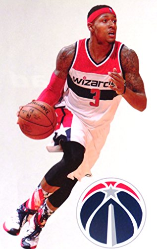 "Bradley Beal Mini FATHEAD + Washington Wizards Logo Official NBA Vinyl Wall Graphic 7"" INCH"
