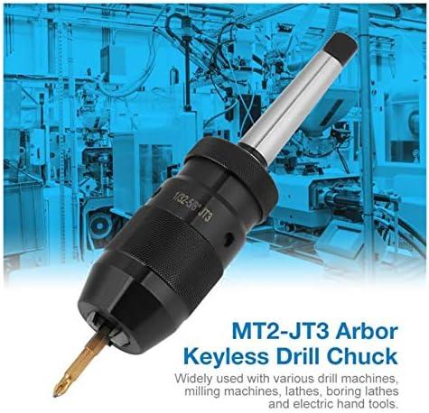 YFJLOVE YUFENGJIAO 1-16mm Capacity Steel Keyless Drill Chuck Self Tighten Lathe Drill Chuck W/ MT2-JT3 Taper Arbor Drill Bits Adapter CNC Tool Part