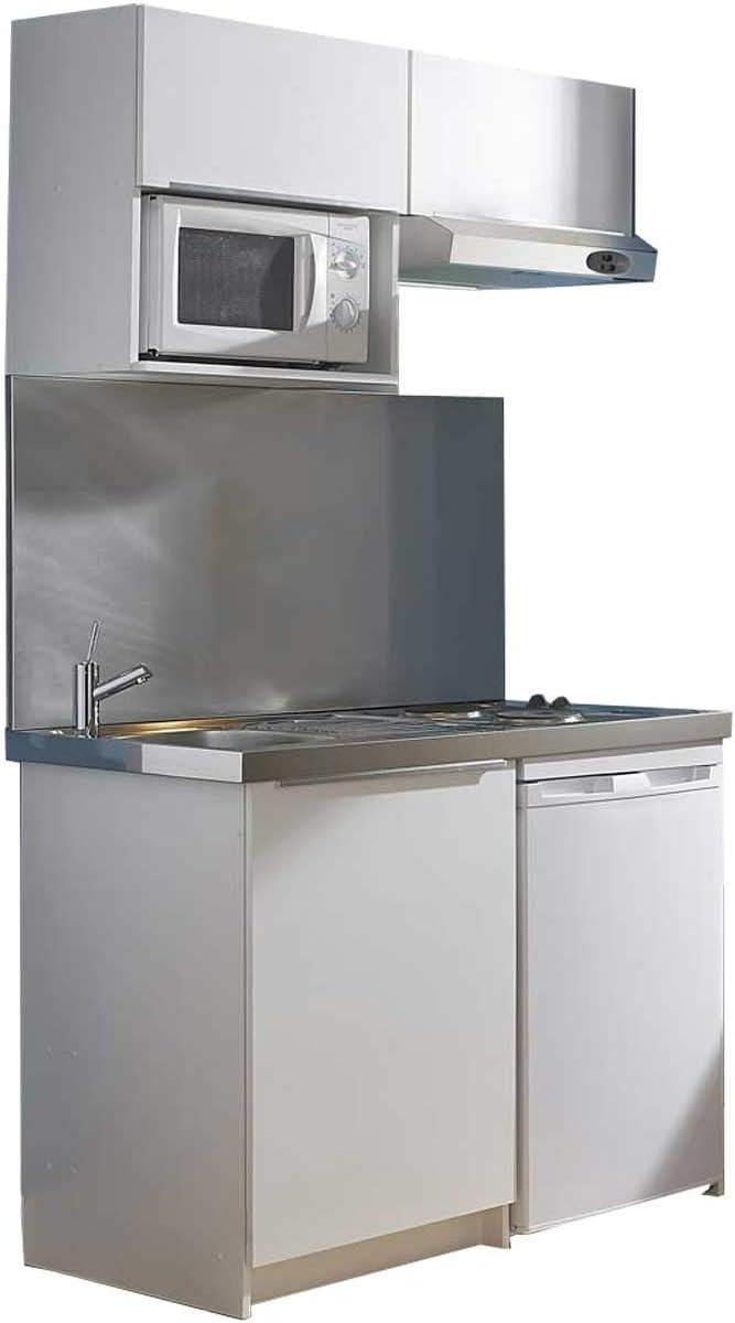 MODERNA - Kitchenette Completo (120 x 60 cm, melamina), Color Blanco: Amazon.es: Hogar