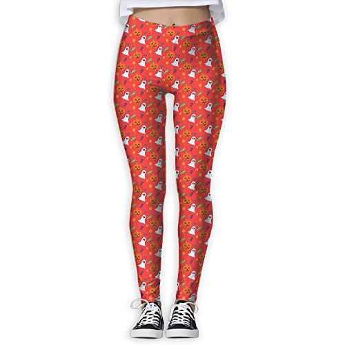 (Ghost And Pumpkin Halloween Pattern Women's Power Flex Yoga GYM Long Pants)