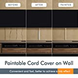 TV Cord Cover Cable Raceway on Wall, 31.5 inch