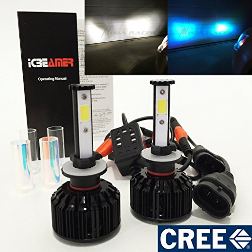 - Mega Racer 880 884 885 890 892 893 899 CREE COB LED 6K White 10K Blue LED Kit Headlight Fog Light - Replace Xenon Lamp Bulb